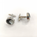 Onyx, Nacre and stainless-steel Cuff Links