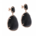 Black Stone and Stainless-steel Earrings